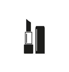 lipstick of black icon vector image