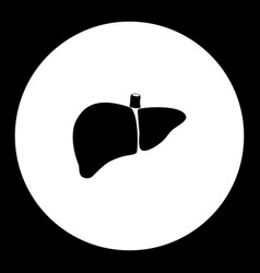 liver internal organ medical simple black icon vector image