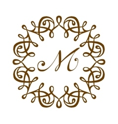 M logo badge vector image