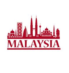 malaysia travel destination vector image