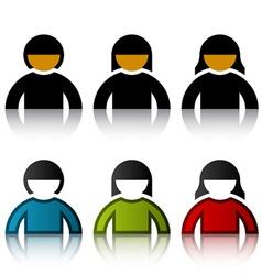 Male female user symbols vector