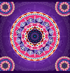 mandala pattern on purple fancy background for vector image