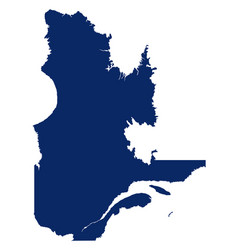 Map quebec in blue colour vector