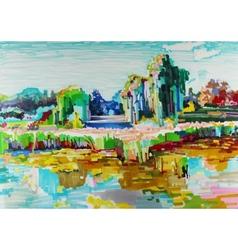 Marker painting landscape vector