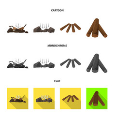 Material and logging symbol vector