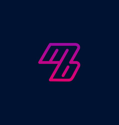 Mb logo design with pink and purple gradient vector
