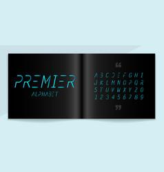 modern font and alphabet set lettering design vector image