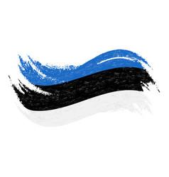 national flag of estonia designed using brush vector image