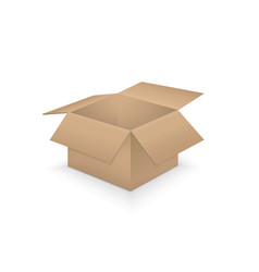 open paper box on white background vector image