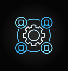 Outsourcing colored concept icon with vector