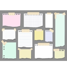 paper torn page notes blank notepad pages vector image