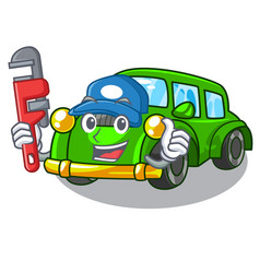 Plumber classic car toys in cartoon shape vector