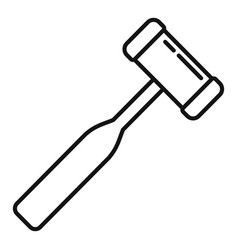 Podiatrist tool icon outline style vector