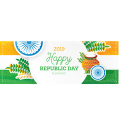 Republic day in india vector