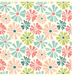 Retro spring seamless pattern daisies vector