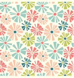 retro spring seamless pattern of daisies vector image