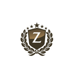 Royal vip shield leaf initial z vector