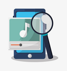 Search in web related icons image vector