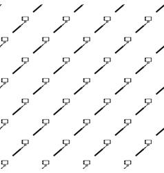 Selfie stick monopod pattern simple style vector