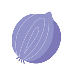 slice onion vegetalbe nutrition isolated icon vector image