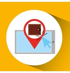 Smartphone shopping online save money graphic vector