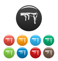 Snowdrift icons set color vector