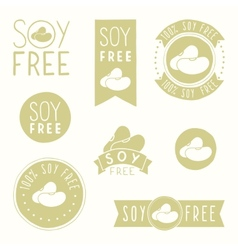 Soy free badges vector