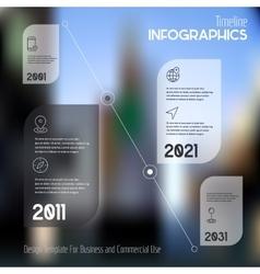 Step progress options banners on defocused vector image