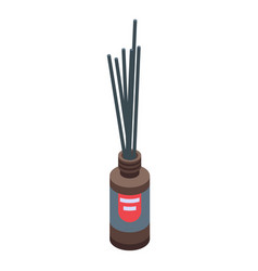 Sticks diffuser bottle icon isometric style vector