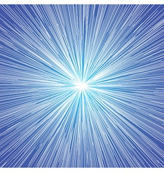 Sun Burst Blast Background Blue vector image