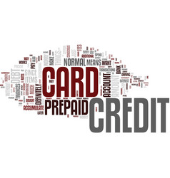 the benefits you can get from a prepaid credit vector image
