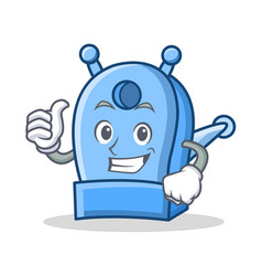 thumbs up pencil sharpener character cartoon vector image