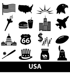united states of america country theme symbols vector image