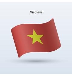 Vietnam flag waving form vector image