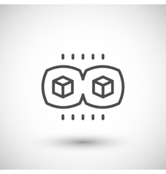 Virtual reality view line icon vector