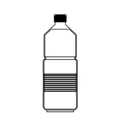 water bottle icon in monochrome silhouette vector image