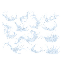water splash set isolated on transparent vector image