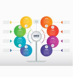 website template business presentation concept vector image