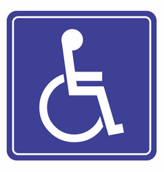 wheelchair icon for the disabled vector image