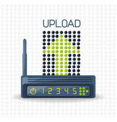 Wifi router icon related with upload internet vector