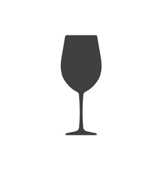 Wine glass icon isolated on white background vector