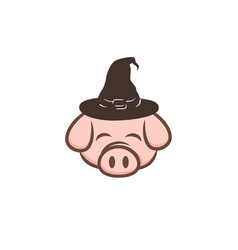 wizard pig pork bacon theme cartoon vector image