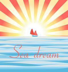 Beautiful of sea landscape wit vector image