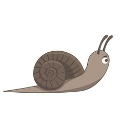 Brown snail on white background Cartoon style vector image vector image