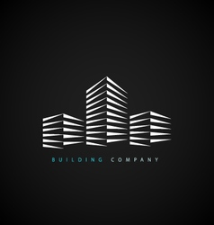Building company logotype vector
