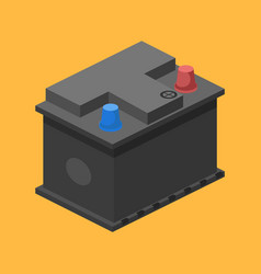 car battery isometric vector image
