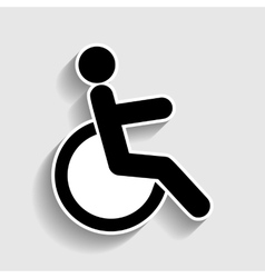 Disabled sign Sticker style icon vector image vector image