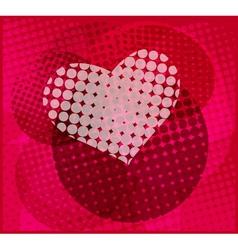 halftone heart vector image