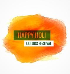happy holi colors festival vector image vector image