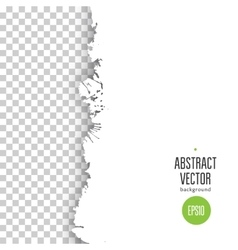 Ink blob transparent background vector image vector image